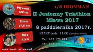 II Jesienny Triathlon Mława 1/8 IM