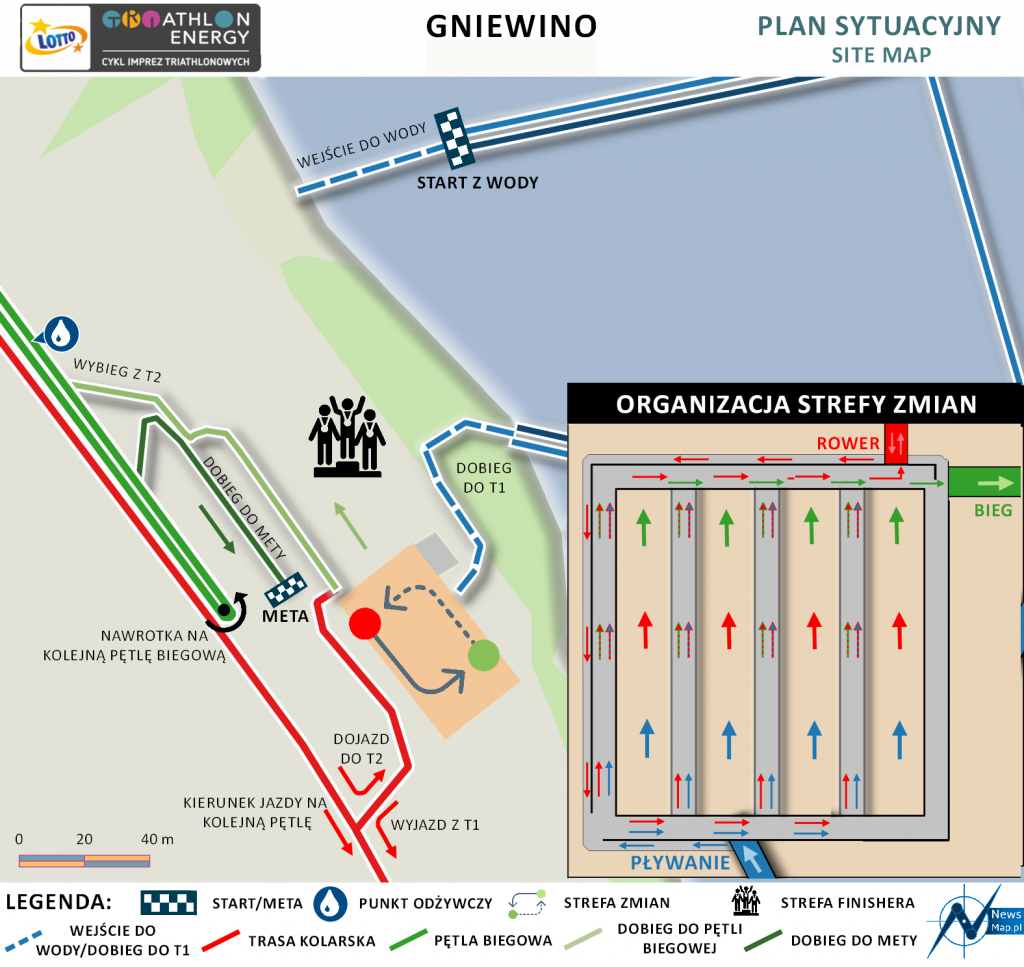 Triathlon Energy Gniewino 2021 strefa zmian | Aktywer