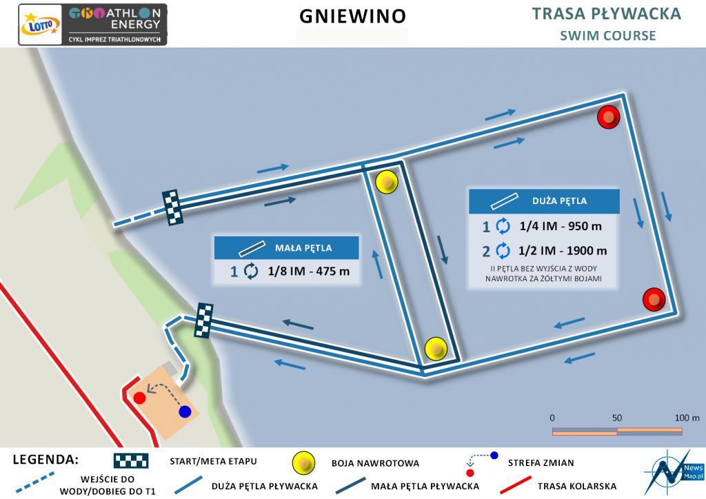 Triathlon Energy Gniewino 2021 pływanie | Aktywer